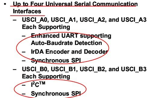 msp430f5419/38学习笔记之USCI:UART模式