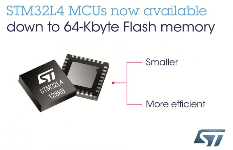 更耐用,ST推出新型STM32L4微控制器