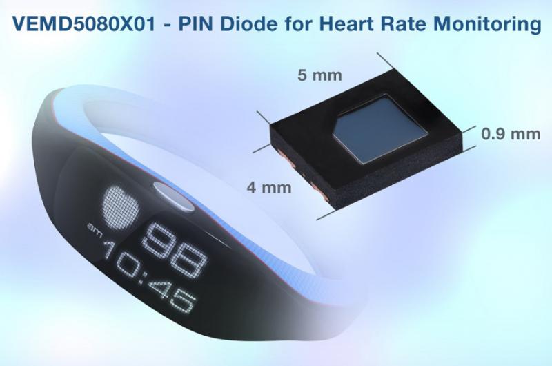 Vishay将在消费电子设备中增加心率监测功能