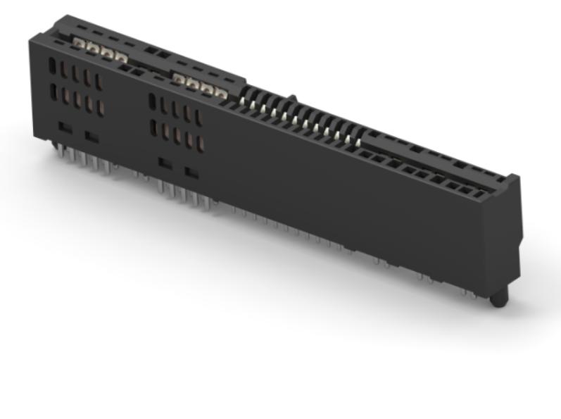 TE新品:高密度电流金手指电源连接器