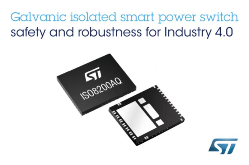 意法半导体推出电隔离高边智能功率开关—— ISO8200AQ
