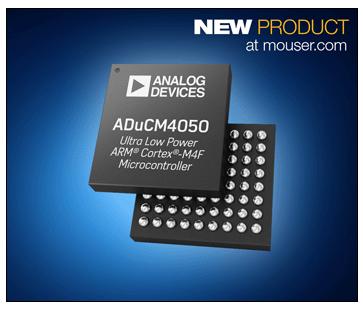 Analog Devices ADuCM4050微控制器 貿澤開售