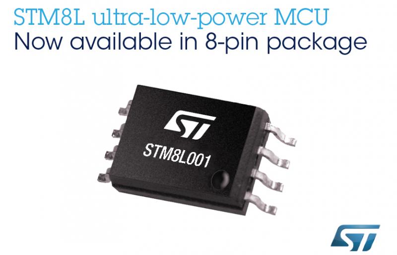 STM8L001 满足智能设备的基本开发要求