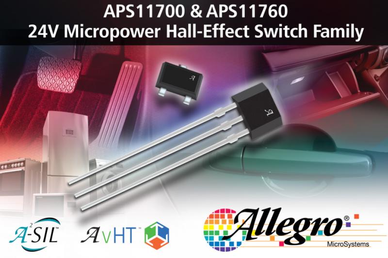 更高效更长寿,Allegro推出微功率霍尔效应开关系列APS11700/760