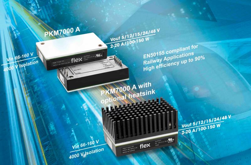 满足工业和铁路行业需求,Flex扩军电源模块系列