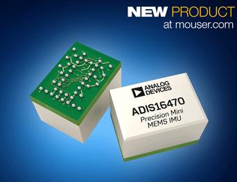 改善物联网设备导航功能,ADIS1647x微型工业IMU贸泽开售