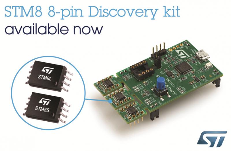 更超值,STM8微控制器的单板Discovery 套件发布