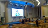 科鑫光电自动升降折叠led屏顺利进入韩国市场