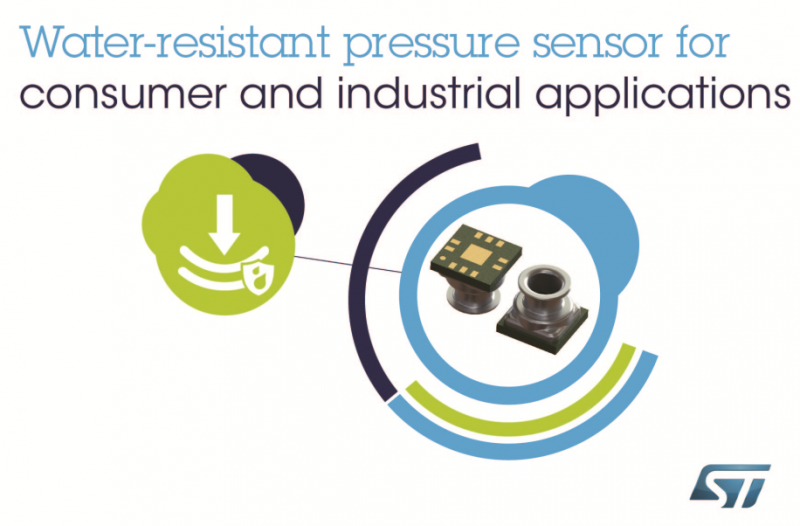 ST推出全新防水型MEMS压力传感器