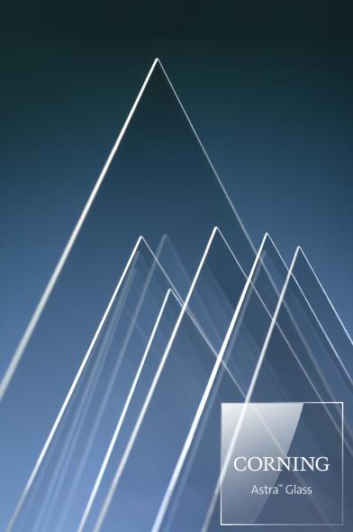 康宁公司推出新型玻璃基板 Corning® Astra™ Glass