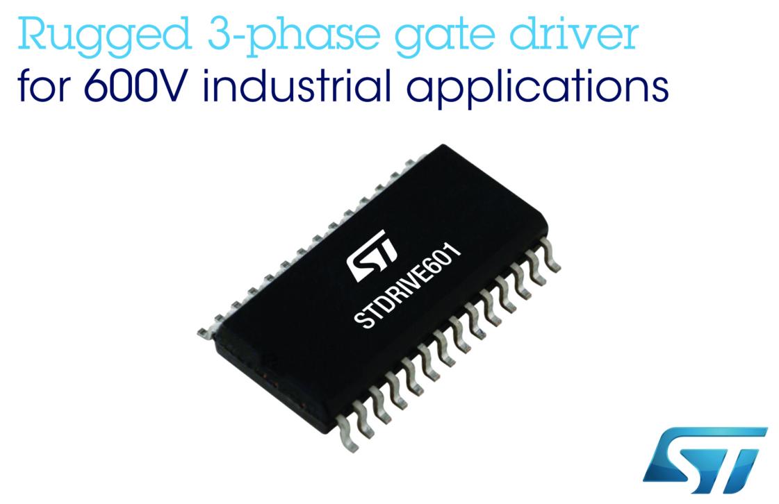 更安全更高效,ST 600V三相智能关断栅极驱动器问市