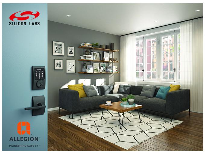 Silicon Labs与Allegion携手为家用和商用安防设备提升物联网功能