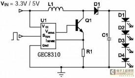 液晶显示器背光源LED驱动器GEC8310方案