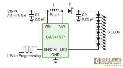 针对不同低压便携设备背光或闪光应用的LED驱动器方案