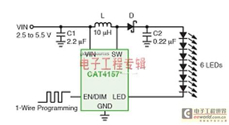 不同低压背光或闪光应用的LED驱动器方案选择