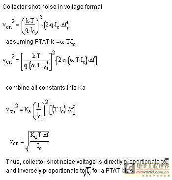 PTAT 偏置的集电极噪声电压