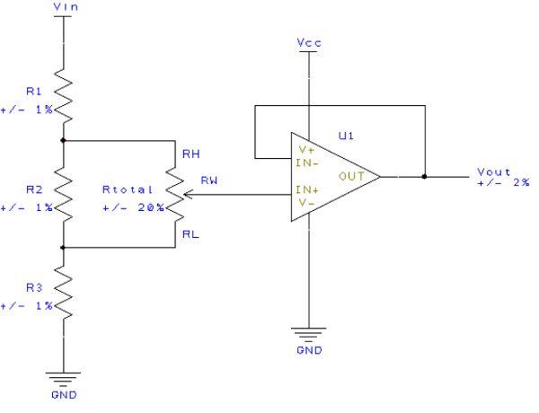 图5:在分压模式下提高精度的例子