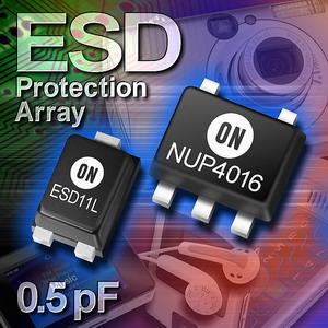 安森美半导体推出业界最薄ESD保护阵列