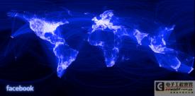 通过 Facebook 关系来绘制的世界地图