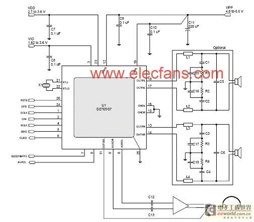 基于Si270x降EMI音频D类放大技术- 音响- 电子工程世界网