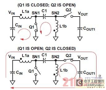 图2. SEPIC转换器的电流流向