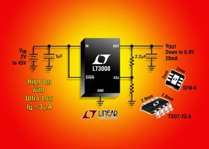 凌力尔特纤巧和高压的 LDO 具 3uA IQ