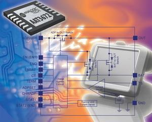 研诺的动态管理系统负载和充电的电池充电器