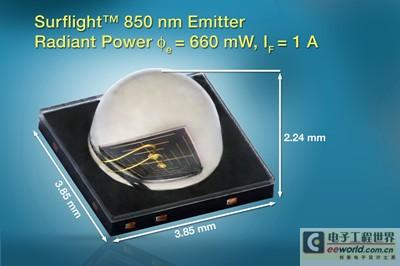 Vishay推出新款850 nm红外发射器