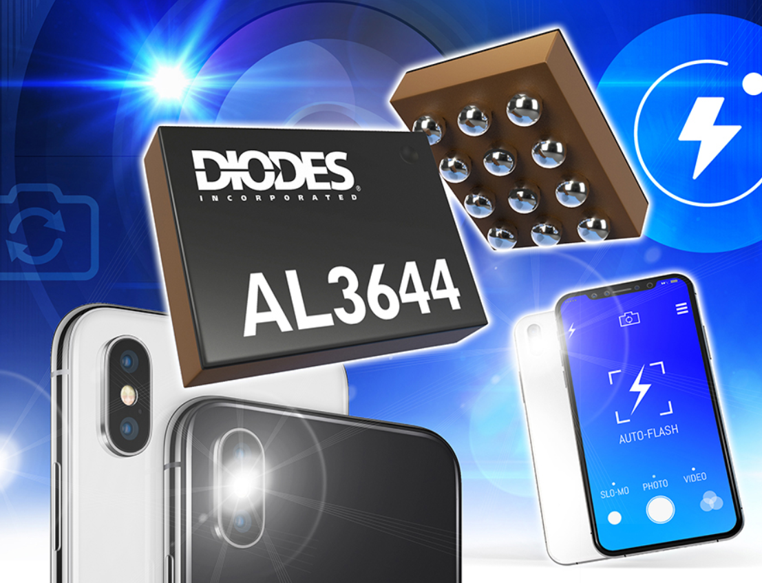 Diodes 推出高速双信道闪光灯LED驱动器,提供稳定高电流