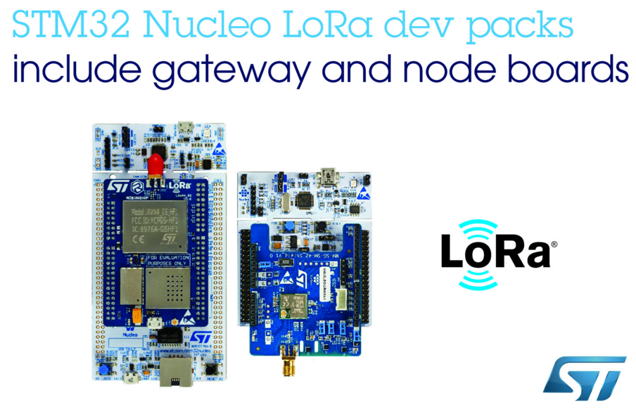 ST推出两款即用型LoRa®开发包 加快项目开发速度