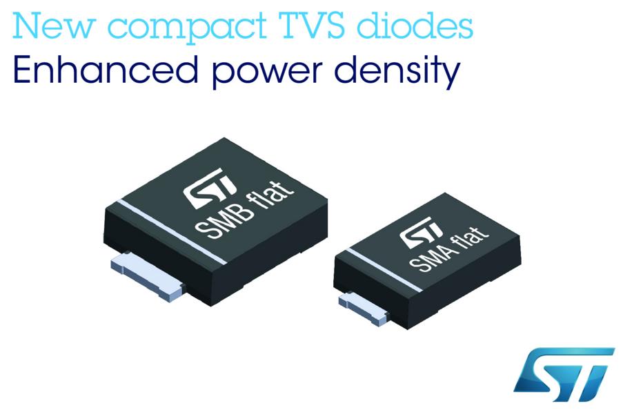 ST推出瞬压抑制二极管,更小封装带来更强保护