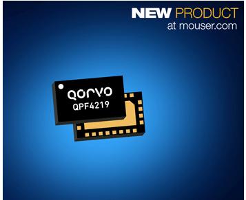 适用WiFi5的Qorvo QPF4219集成前端模块贸泽开售