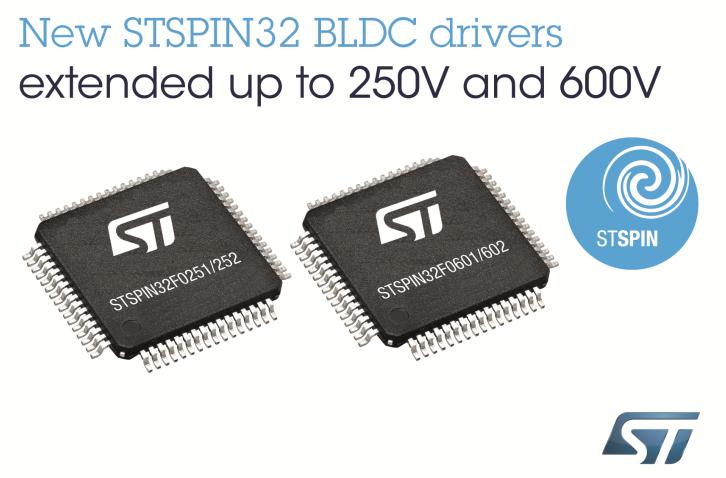 STSPIN32 BLDC电机驱动器简化高压BLDC设计流程