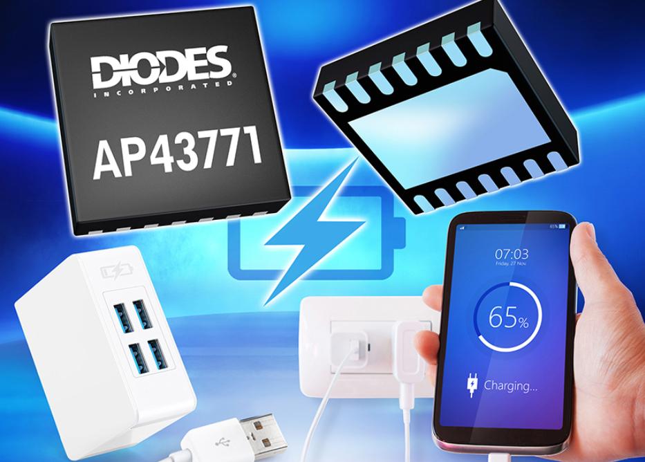 Diodes 第二代 USB PD控制器問市,快速充電器的理想選擇