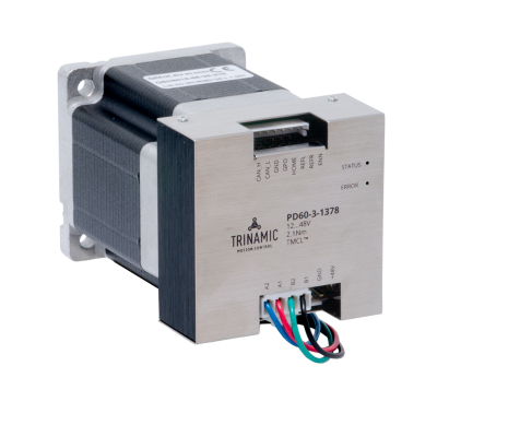 Trinamic推出即插即用智能步进电机系统,高精度、可靠性