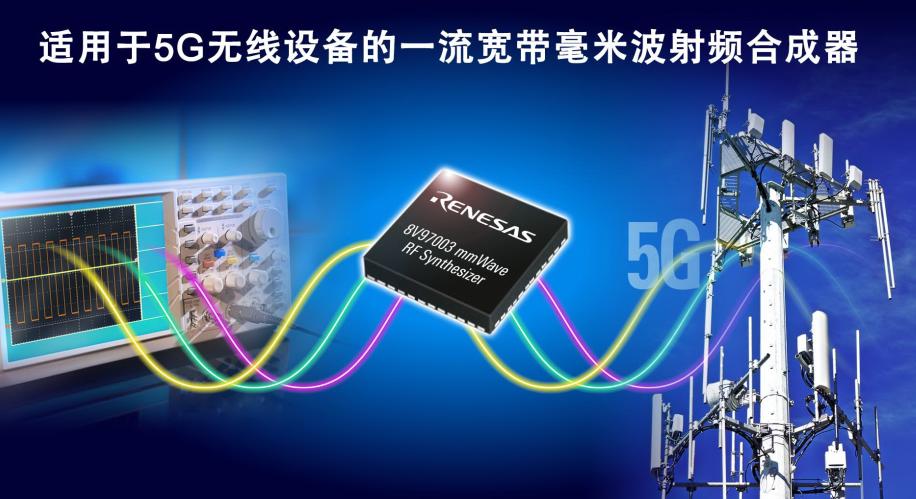 瑞萨电子推出业界高性能宽带毫米波合成器