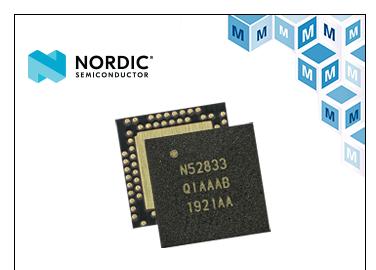 Nordic nRF52833多協議SoC貿澤開售