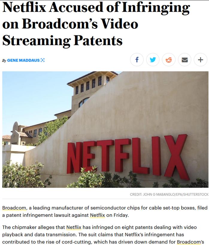 Netflix涉嫌侵犯高通专利,两家企业恐对簿公堂