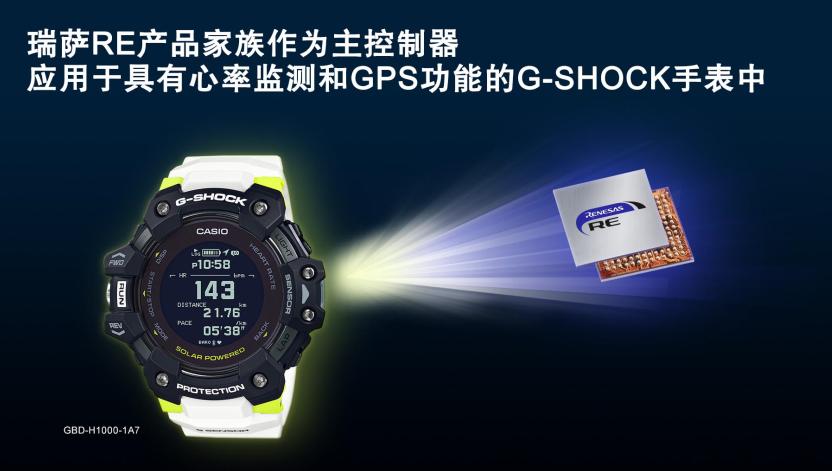 Casio G-SHOCK系列也有瑞薩元素,帶來更多功能和更低功耗