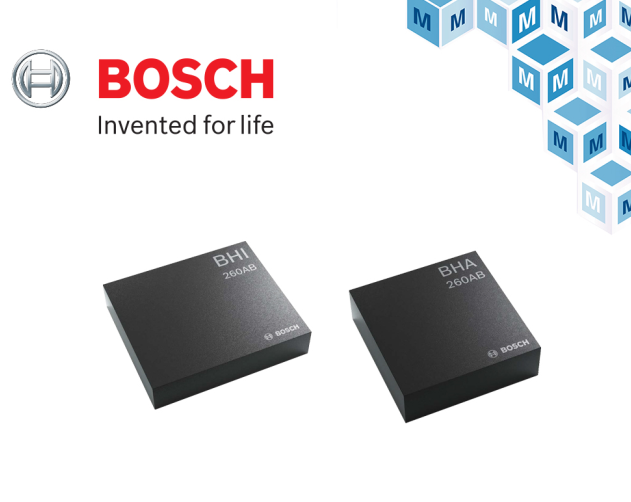 Bosch Sensortec 智能傳感器中樞貿澤開售