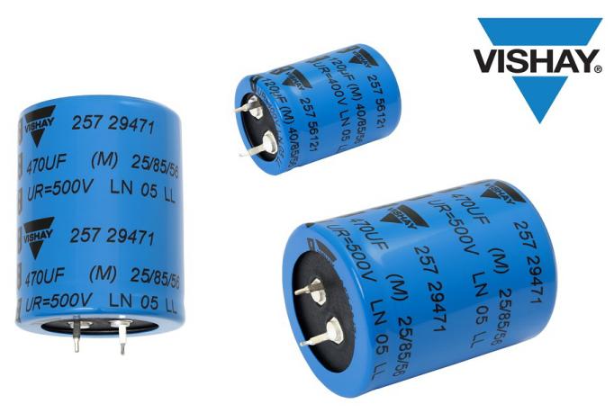 更省空间更便宜,Vishay最新卡扣式功率铝电容器问市