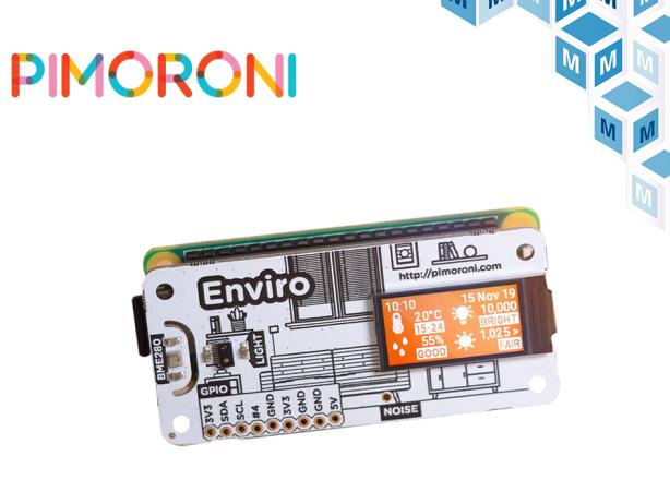 Pimoroni PIM486 Enviro 实现室内传感数据的远程访问贸泽开售