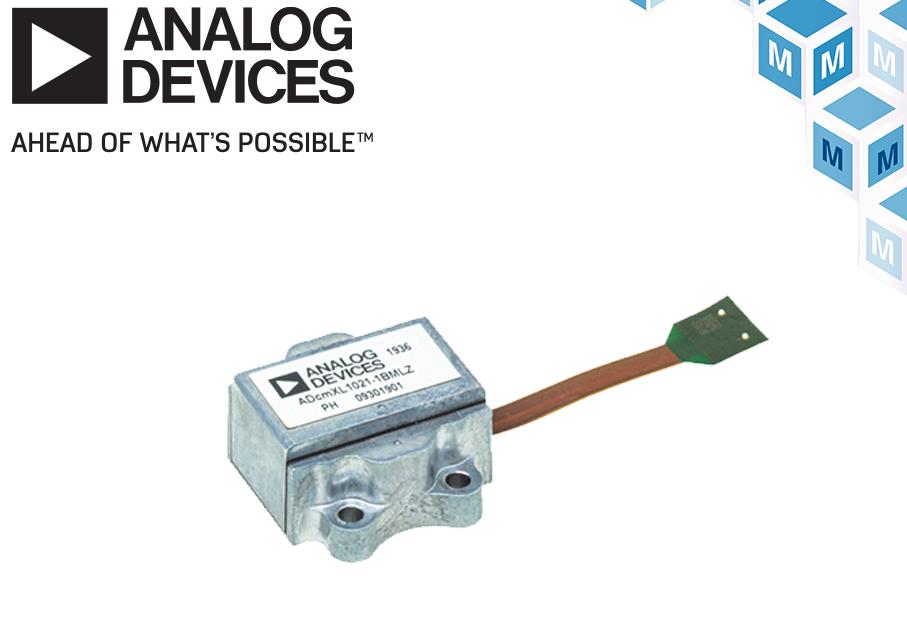 貿澤開售Analog 適用于工業系統的振動傳感器