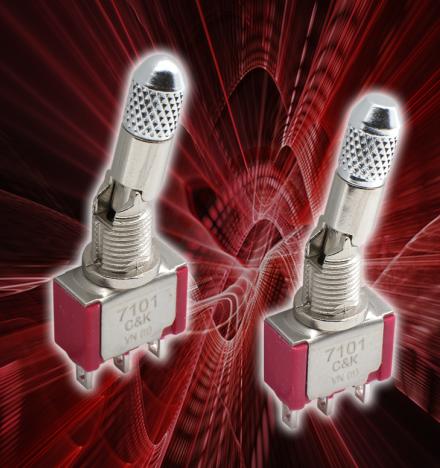 C&K 强化7000 系列微型锁定式钮子开关,实现防滑性能