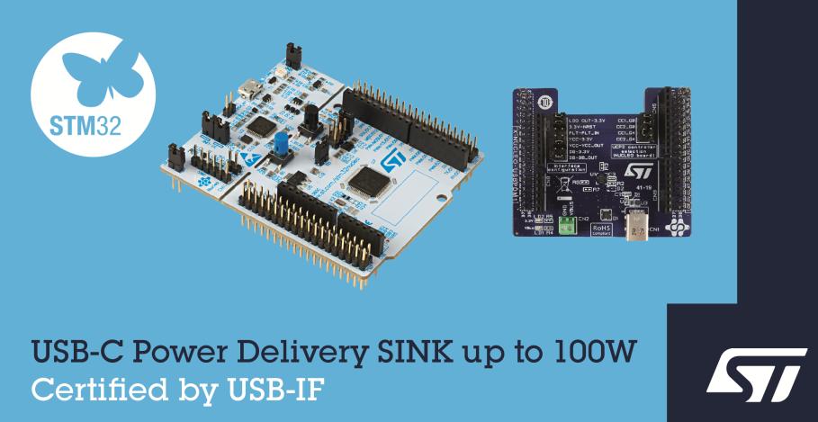 ST USB-IF认证开发板可充分释放USB-C潜力