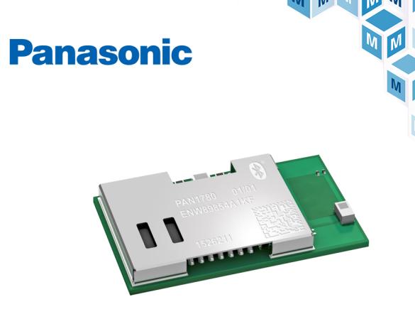 Panasonic 高性能蓝牙5低功耗模块贸泽开售