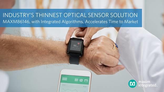 Maxim 全新光傳感器方案可大幅縮短可穿戴健康產品上市時間