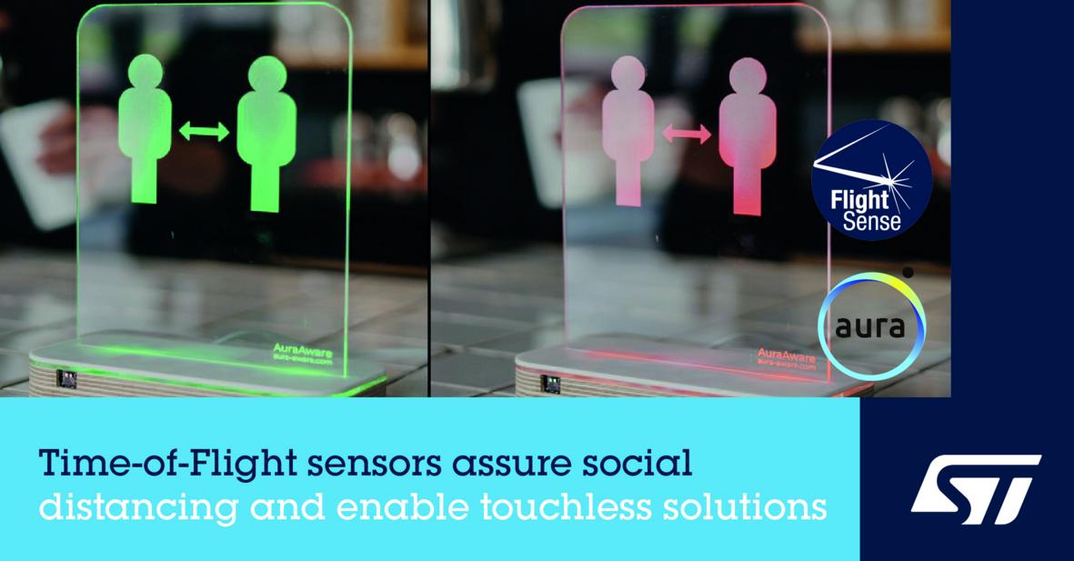 ST FlightSense ToF传感器,让人们在安全距离进行社交