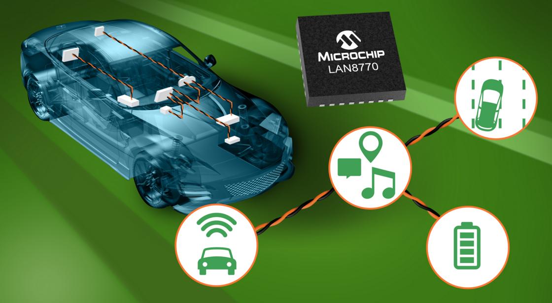 Microchip推出单对以太网PHY,具备超低休眠电流