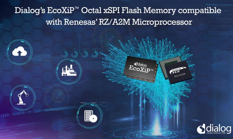 Dialog EcoXiP™ Octal xSPI闪存助力瑞萨RZ/A2M迸发更强性能